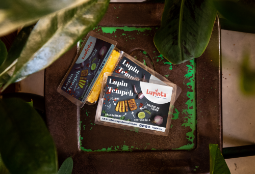 Lupinta's Tempeh in a package